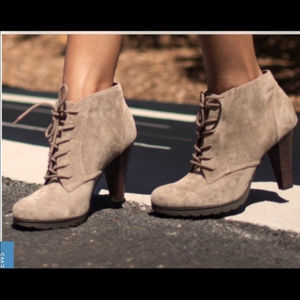 White Mountain Sugarbabe Suede Ankle Booties